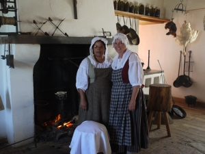 In the kitchen of the Engineer in Fortress Louisbourg.