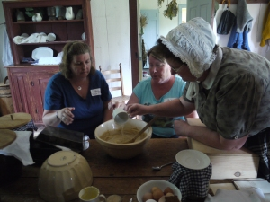 Edventure participants help mix gingerbread