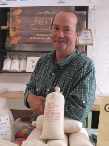 Jeff with his Buckwheat Flour