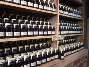 Jars of Moonshine at the Ole Smoky Distillery
