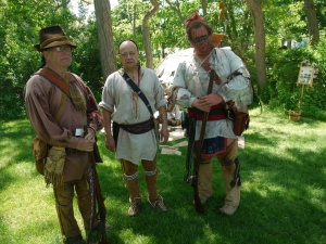 Members of the Upper Canada Woodland Allies shared their eating customs during battle.