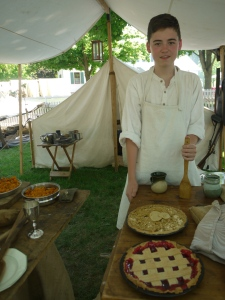 Jacob MacGillvary loved  cooking pies for the American troops at the Battle of Stoney Creek Reenactment