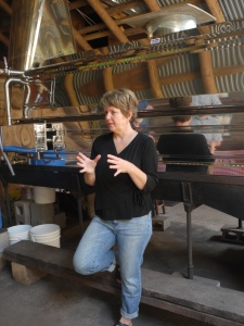 Quita Gray explains how maple syrup is made on Sugar Moon Farm.