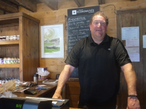 Antan Arseneau in the shop of his family smokehouse Le Fumoir D'Antan
