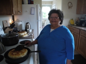 Kathy Archer prepares traditional Frybread
