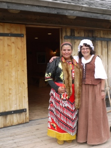 Louise Arsenault and Tamara Sock participate in the Pioneer Festival at Roma