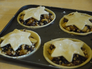 Mincemeat tarts made at the Caffi Florence Cookery School.