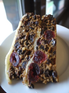 Fruit cake made at the Caffi Florence Cookery School.