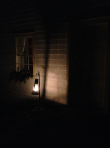 Lantern light welcomes visitor's to homes of the past in Westfield Heritage Village.