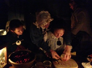 Kathy Johnston and grandaughters Sage and Grace making Venison Stew