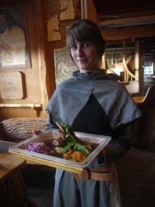 Dinner is served at the Viking Village