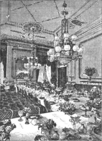 White_House_state_dining_room_during_Franklin_Pierce_administration